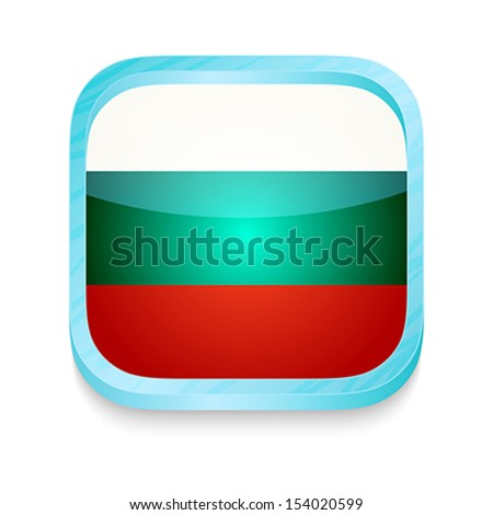 Smart phone button with Bulgaria flag