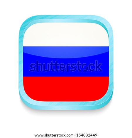 Smart phone button with Russia flag