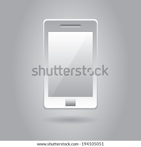 Smart phone icon . Vector background eps10 - stock vector