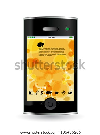 Smart phone isolated on white background - stock vector