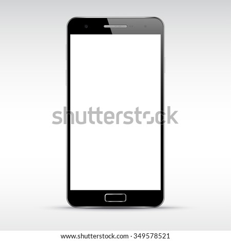 Smart phone mockup with blank screen. Perfectly detailed isolated object. Vector illustration - stock vector