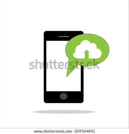 Smart phone texting icon. EPS10