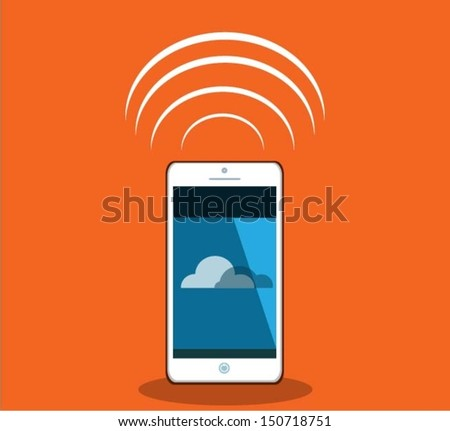 Smart phone .Vector eps10 illustration.