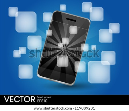 Smart Phone with Applications - stock vector