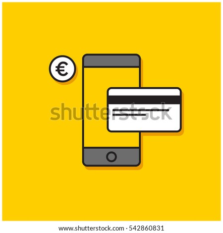 Smart Phone Credit Card Online Mobile Stock Vector Royalty Free