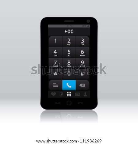 Smart phone with phone key pad screen