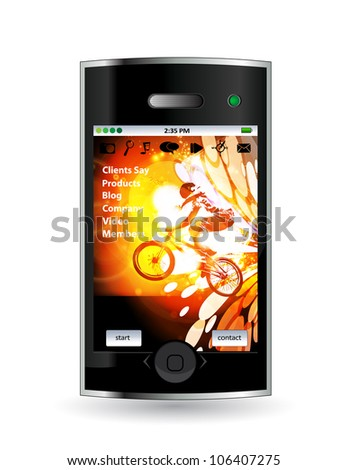 Smart phone with sport application