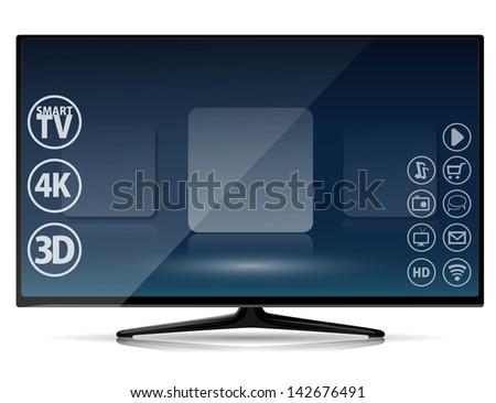 Smart TV - stock vector