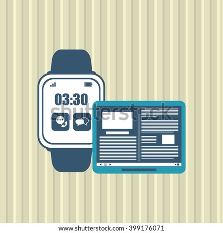 smart watch design, vector illustration
