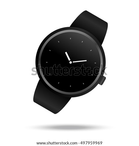 Smart watch icon white background. Vector symbol illustration.