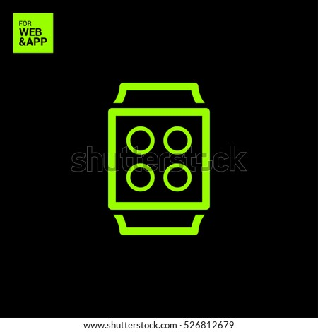 Smart watch isolated minimal single flat icon. Gadget line vector icon for websites and mobile minimalistic flat design.