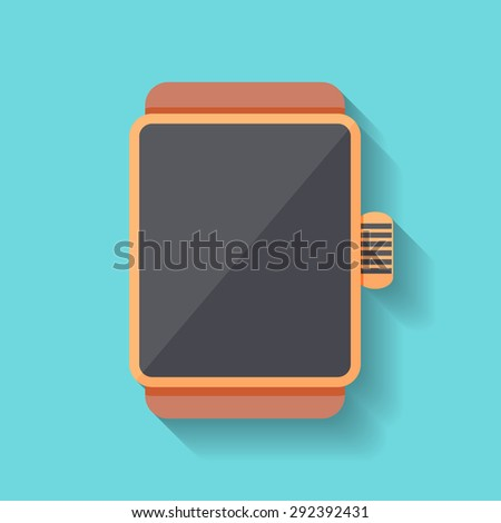 Smart watch on bright background. Eps10 vectpr illustration