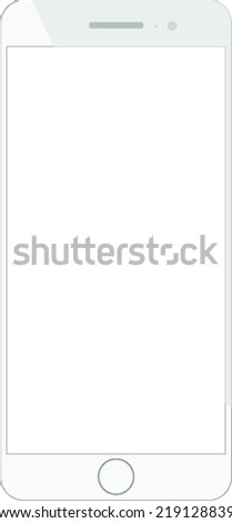 Smarthpone frame vector white - stock vector