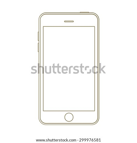 Smartphone abstract outline vector design template. - stock vector
