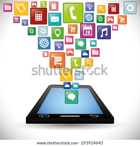 Smartphone Applications design, vector illustration eps 10.