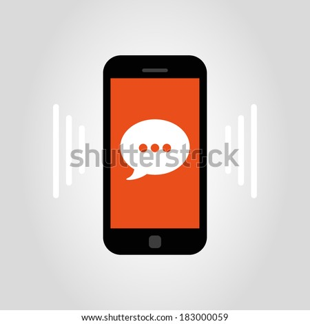 smartphone - bubble - stock vector