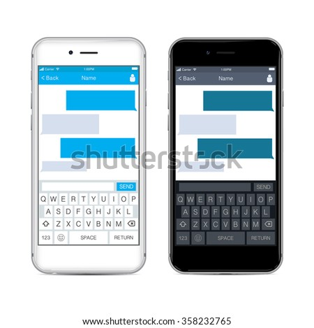 Phone Message Template Stock Vector 262388492 - Shutterstock