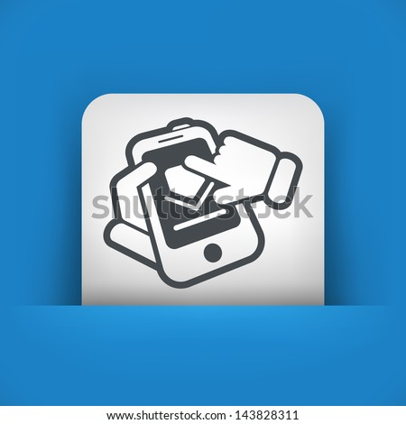 Smartphone download - stock vector