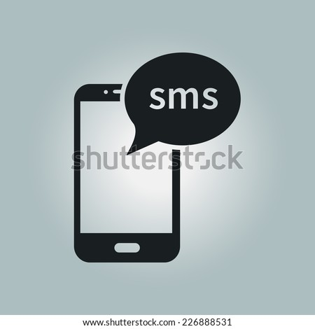 Smartphone email or sms icon. Mobile mail sign simbol. - stock vector