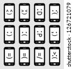 smartphone emoticons - stock