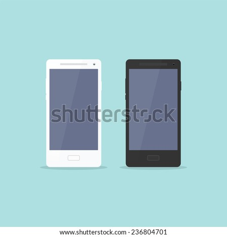 Smartphone Flat Design - stock vector