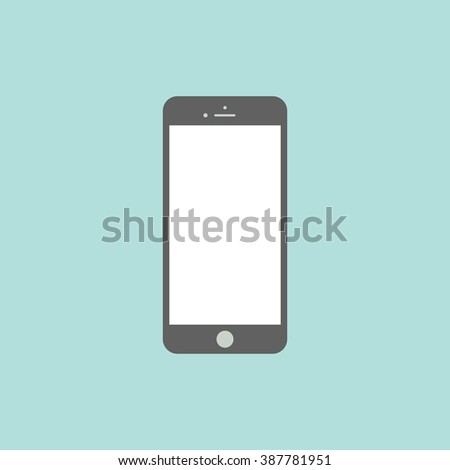 Smartphone flat icon in iphone style. Smartphone Icon Vector. Smartphone Icon Picture. Smartphone Icon Drawing. Smartphone Icon Image. Smartphone Icon JPG. Smartphone Icon Art. Smartphone Icon EPS - stock vector