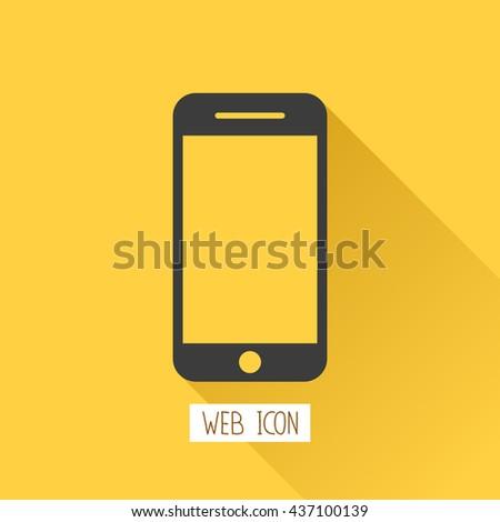 smartphone flat  icon,vector  - stock vector
