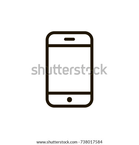 Smartphone Icon Flat Icon Single High Stock Vector 738017584