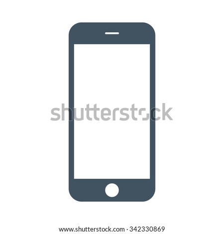 smartphone icon in iphone style on the white background. stock vector illustration eps10 - stock vector