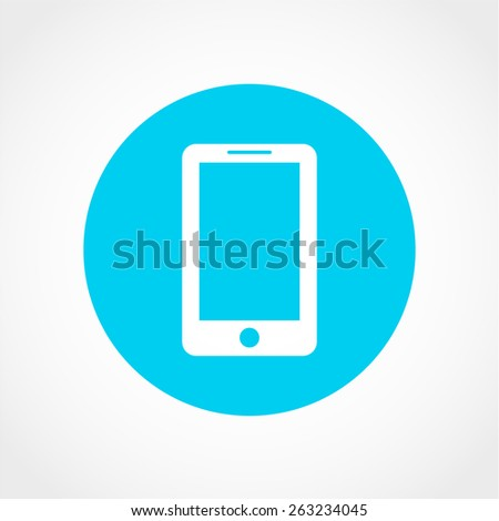 Smartphone Icon Isolated on White Background - stock vector