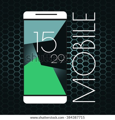 Smartphone, mobile phone.Interface concept. - stock vector