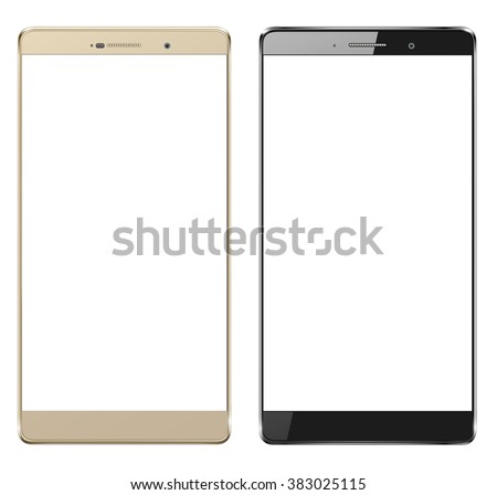 Smartphone, mobile phone isolated with blank screen - stock vector