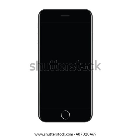 Smartphone Mock up With Blank Screen