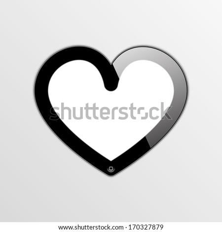 smartphone - smartheart. vector frame. eps10 - stock vector