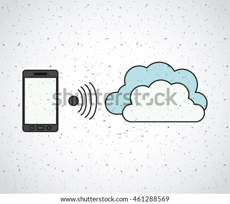 smartphone technology portable icon vector isolated graphic