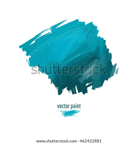 Smeared oil paint. Abstract spot. Stain isolated on white background. Vector illustration. Beautiful graphic element for your design.