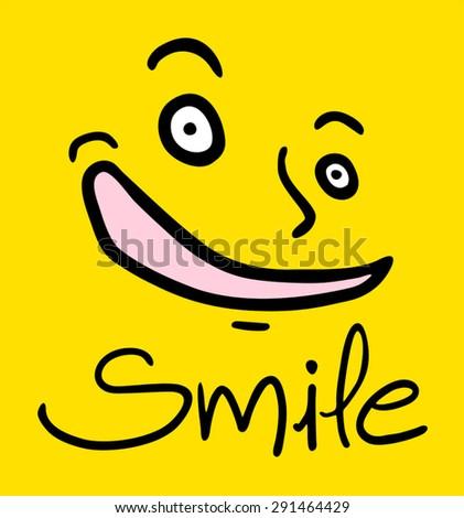 smile face - stock vector