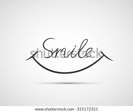 Smile font design, vector illustration, graphic, background - stock vector