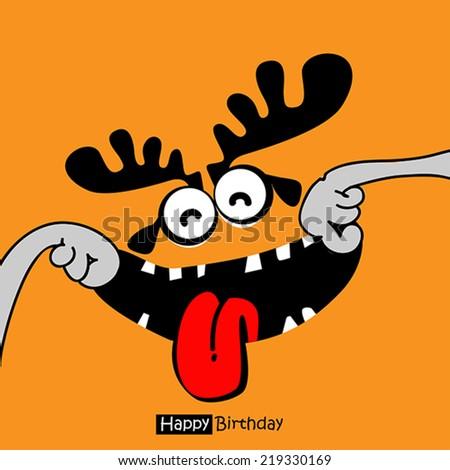 smile Happy Birthday - stock vector