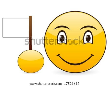 Smile icon on a white background. Vector illustration.