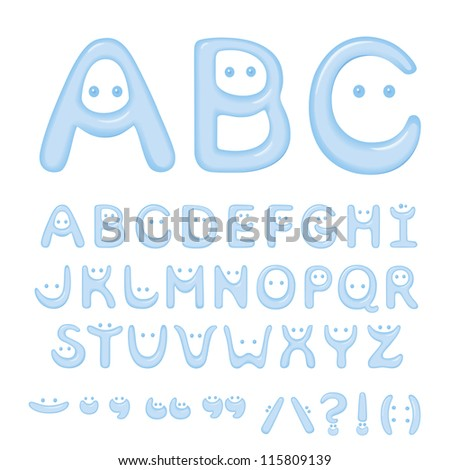 Smile letters formed of water - stock vector