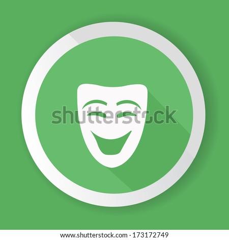 Smile mask symbol,vector - stock vector