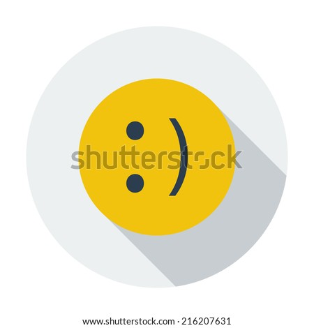 Smile. Single flat color icon. Vector illustration. - stock vector