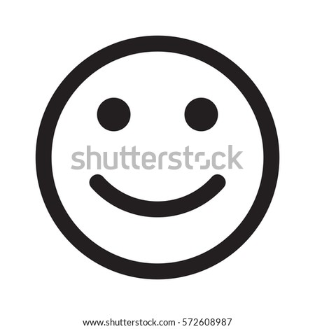 smile vector icon happy face stock vector 572608987 shutterstock rh shutterstock com happy face vector icon happy face vector free