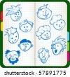 smiles icon set - stock vector