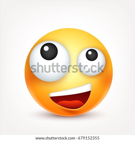 Yellow Mood smileyemoticon yellow face emotions facial expression stock vector