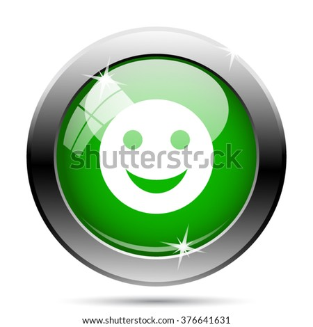 Smiley icon. Internet button on white background. EPS10 vector.
