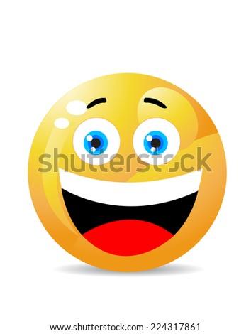 Smiley on white  - stock vector