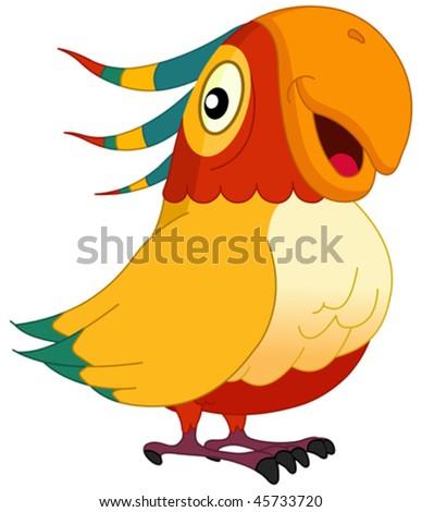 Smiley parrot - stock vector