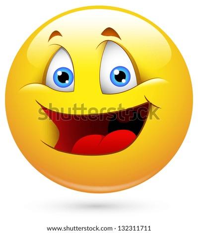 Smiley Vector Illustration - Childish Face - stock vector
